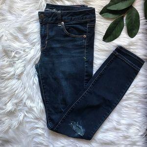 American Eagle Knee Slit Skinny Jeans